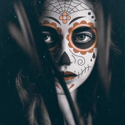 artisticportrait photomanipulation dayofthedead dust dodgereffect freetoedit