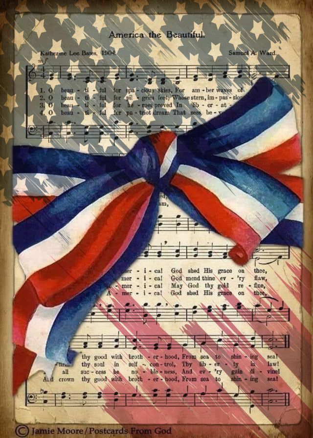 #freetoedit #redwhiteandblue #songlyrics #america #fourthofjuly #bow #ribbon #stars #stripes