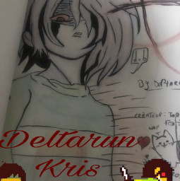 freetoedit charaisback creepygirl deltarunekris deltarune