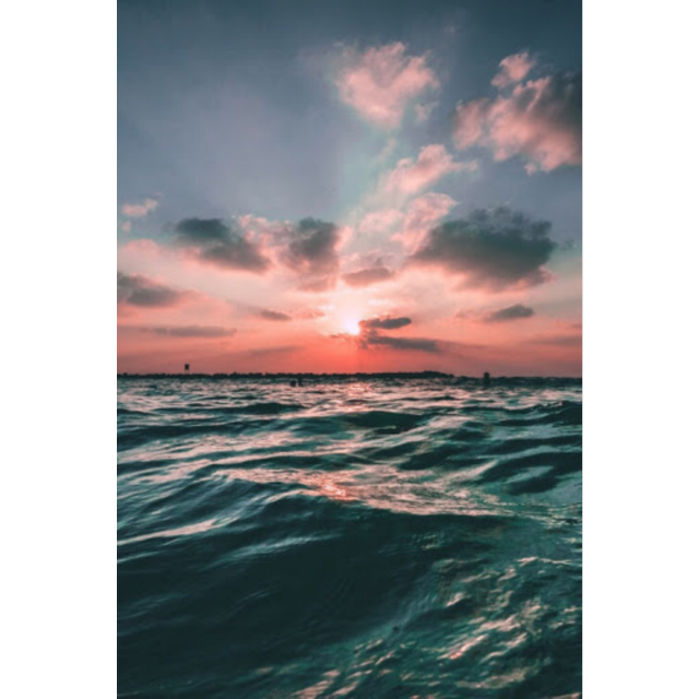 #freetoedit #background #blue #pink #pastel #ocean #water #sunset #clouds #beautiful #vacation