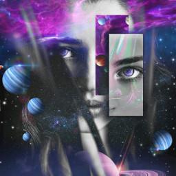 freetoedit picsart tools surreal doubleexposure ecspaceface spaceface