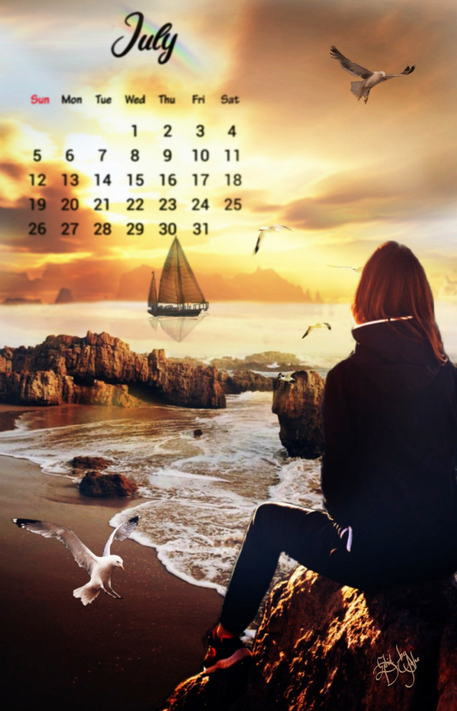 #freetoedit , #calender , #clipart, #sunset, #viewpoint , #fxeffects, #fxtools, #July