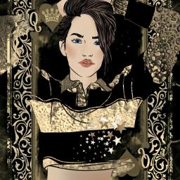 freetoedit outlinegirl girl pretty playingcard