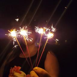 freetoedit 4thofjuly sparksareflying sparklers nighttimefun