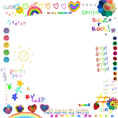 glitchcore kidcore scenecore rainbow border freetoedit
