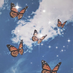 freetoedit butterfly sparkle summer