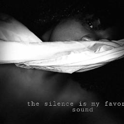 silence blackbeautiful freetoedit