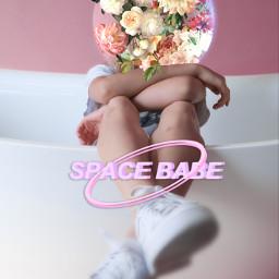 freetoedit цветы космос розовый пиксарт