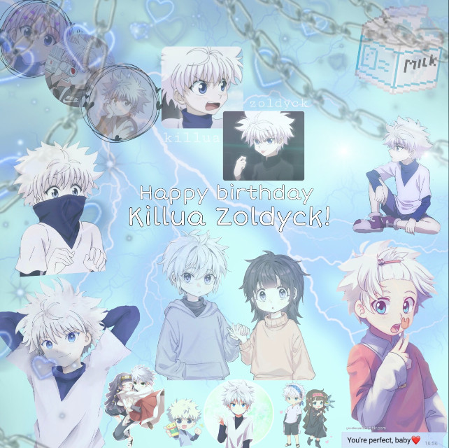 Eeeek this took a while, btw sorry for not posting a lot either. Happy birthday Killua! 🤍  #freetoedit