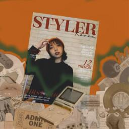 gby editbyme newspaper orange green freetoedit