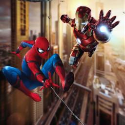 freetoedit marvel fanart spiderman ironman