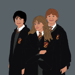 colorpaint draw harrypotter hermionegranger ronweasley