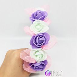 freetoedit headband flower flowerheadband gothgirl
