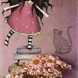 freetoedit cute doll newspaper book ircchamomilesanddaisies chamomilesanddaisies