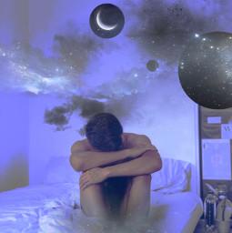 surreal aesthetic moon mood fantasyart