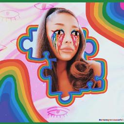 arianagrande ariana grande rainbow puzzel freetoedit srcdoodleeyes doodleeyes