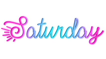 saturday neon text origftestickers freetoedit ftestickers