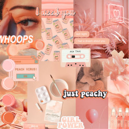 freetoedit aesthetic collage aestheticpeach
