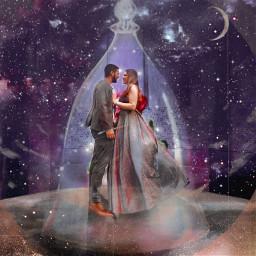 freetoedit weddings galaxy beautyandthebeast
