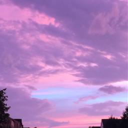 purple freetoedit aesthetic background sky