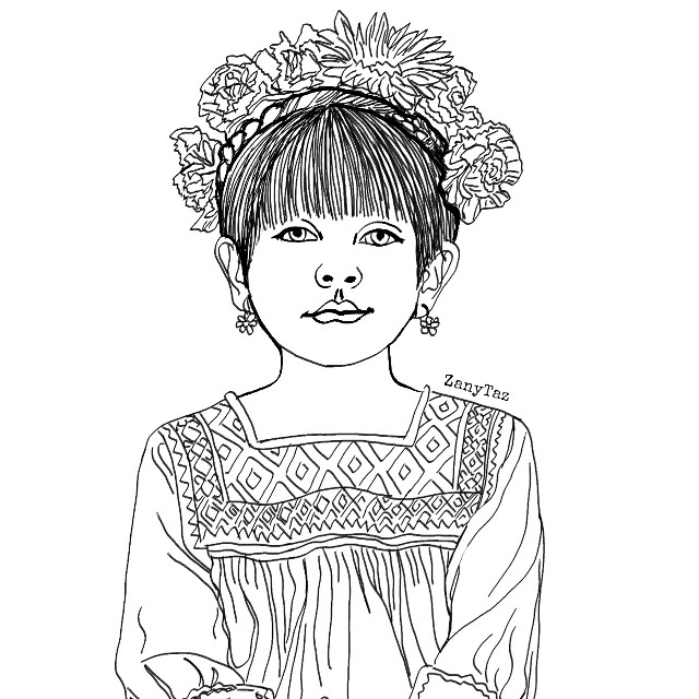 #coloringbook #style #outline #outlineart #littlegirl #littlefrida #drawing #portrait #remixme #madewithpicsart #heypicsart #frida #culture #freetoedit #blackandwhite #lineart (reference from @orient_arts Thank you.)