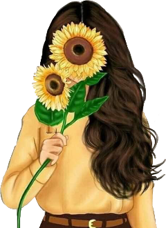 freetoedit sunflower girl art asthetic