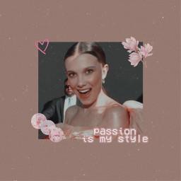 freetoedit milliebobbybrown aesthetic pink vintage