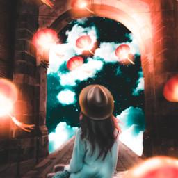 freetoedit visualart imagination girl latern