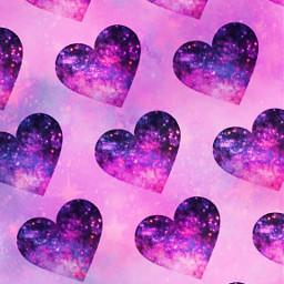 freetoedit glitter sparkle galaxy hearts