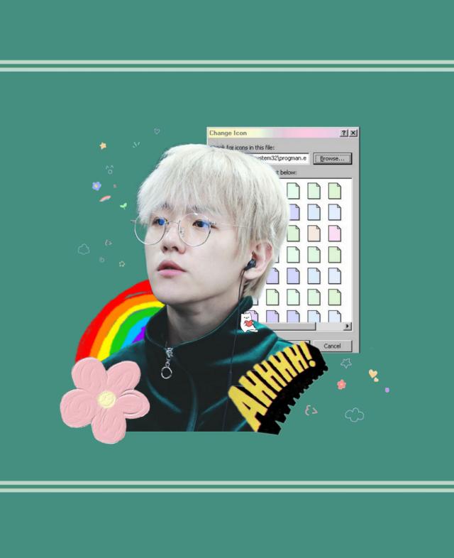 Baekhyun//EXO _ #freetoedit #kpop #k-pop #cute #aesthetic #green #baekhyun #byun #byunbaekhyun #exo #exol #candy  _ Credits: