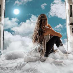 myedit dream dreamy sky clouds