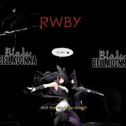 blakebelladonna aesthetic black rwby freetoedit