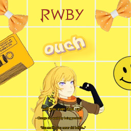 yangxiaolong aesthetic yellow rwby freetoedit