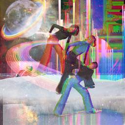 freetoedit glitchart collage surreal cheerful