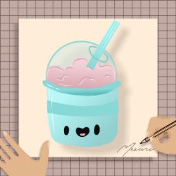 milkshake cute kawaii freetoedit origftestickers ftestickers