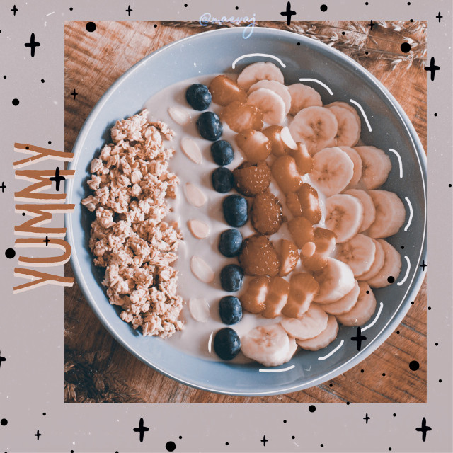 Yummy💫 This edit look like a thumbnail for a YouTube recipe video:)  #freetoedit #food #yummy #smothiebowl #aesthetic #simpleedit #m309