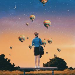 freetoedit sky balloon imagination myedit srchotairballoons hotairballoons