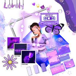 freetoedit avatar purple cute katra