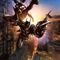 freetoedit batman catwoman dccomics heroes