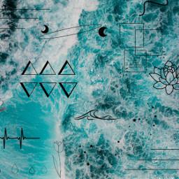 freetoedit asthetic line simple ocean
