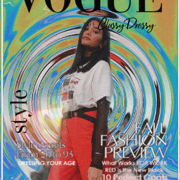 retrochic voguecover voguemagazine trippy freetoedit