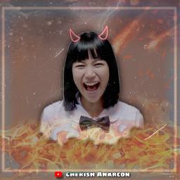 GirlFromNowhere KittyChicha chicha Nanno Thai thailand fire satandaughter girl freetoedit