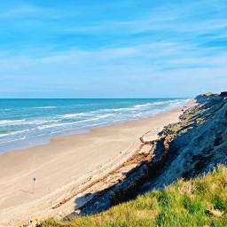 lost beach view ocean northsea