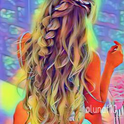 modelling blonde freetoedit