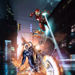 freetoedit ghostrider ironman marvel heroes