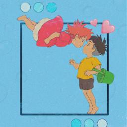ponyo sosuke studioghibli animewallpaper anime freetoedit