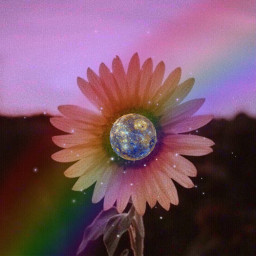 freetoedit sunflower flower rainbow flowerpower