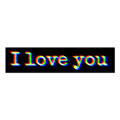 freetoedit iloveyou glitch blackbar sad
