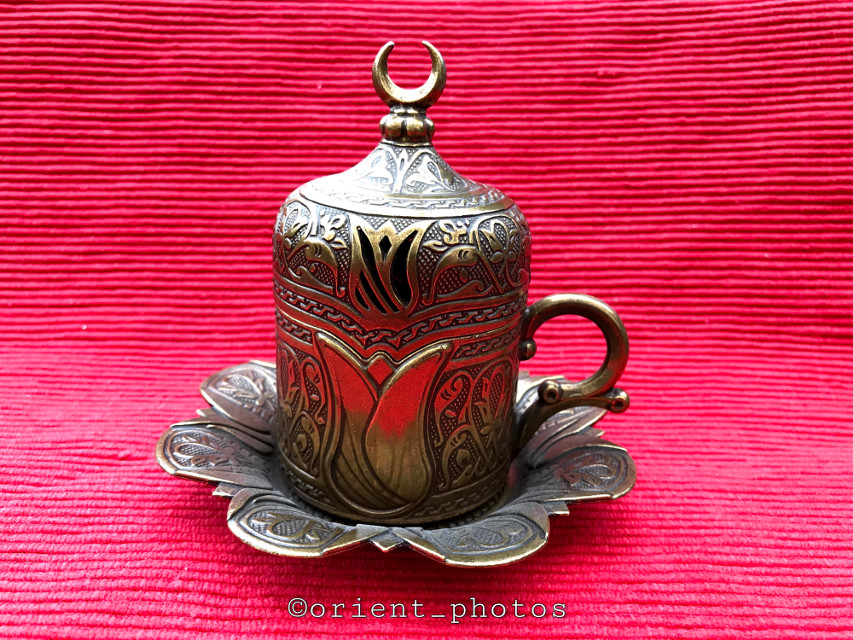 Turkish coffee cup holder in Ottoman style.  #turkishcoffee #cupholder #photography #ottomanstyle #orient_photos
