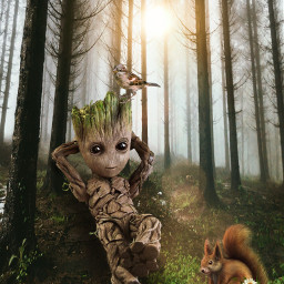 nature freetoedit groot babygroot squirrel